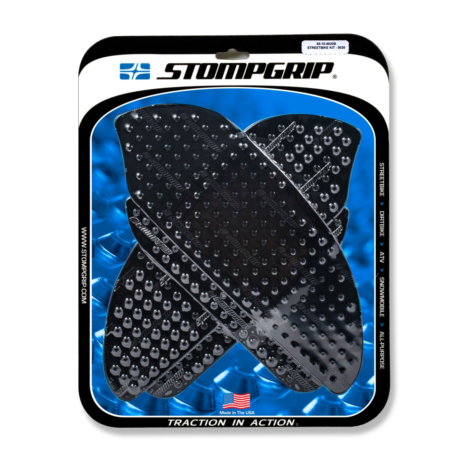 StompGrip Streetbike Traction Pads Clear For Honda 2009 CBR600RR-9 55-10-0020